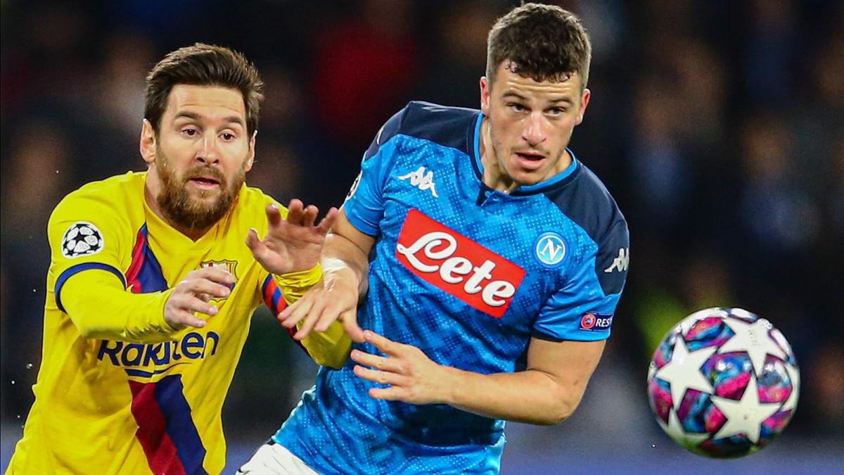 Barcelona faces Napoli in the Champions League