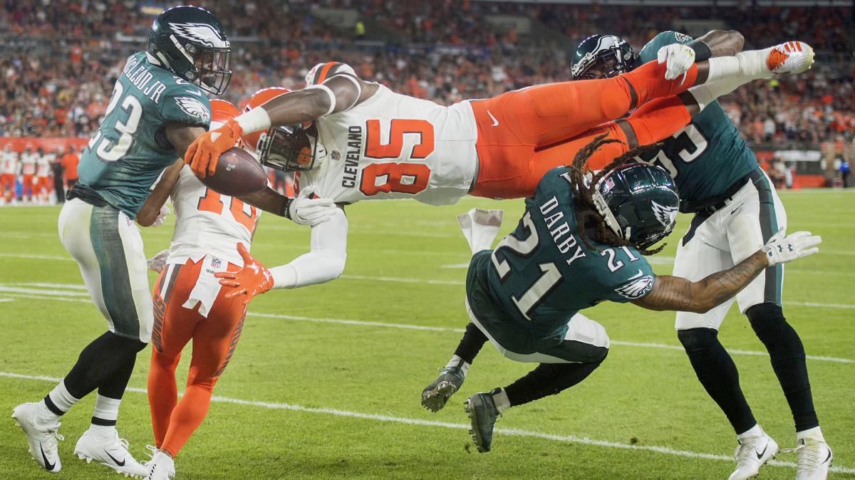 Njoku, who had 56 catches two years ago and just five in an injury-plagued 2019, walked back his trade request.