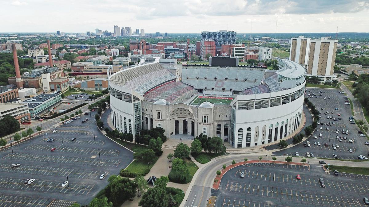 Ohio Stadium overhead view
