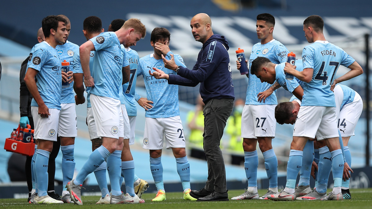 Man City and manager Pep Guardiola