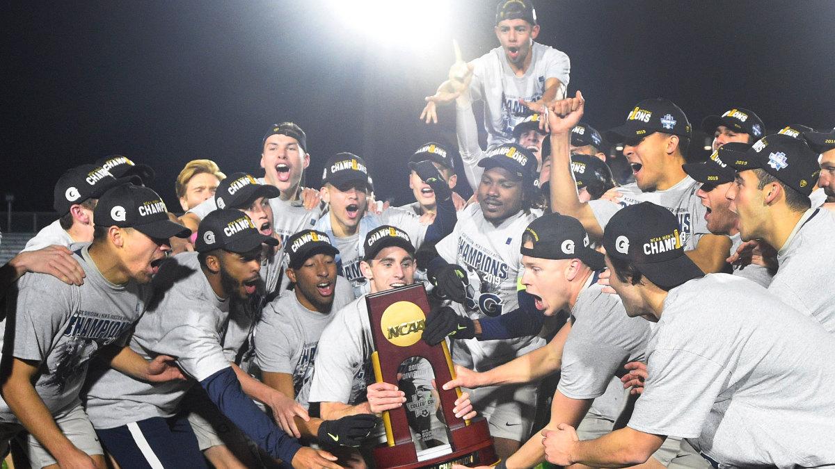 Georgetown men's soccer celebrates its 2019 NCAA championship