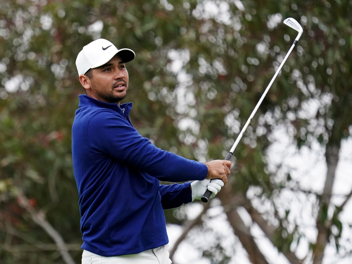 Aug 6, 2020; San Francisco, California, USA; Jason Day hits his tee shot on the 11th hole during the first round of the 2020 PGA Championship golf tournament at TPC Harding Park.