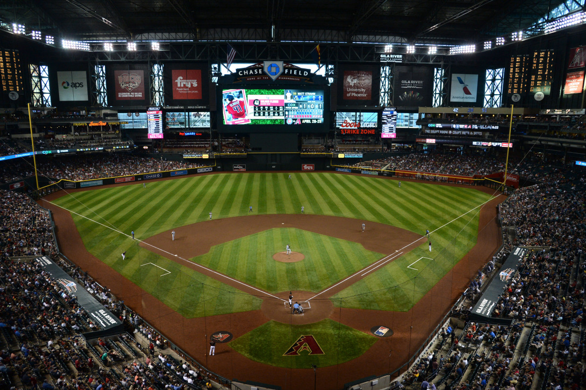 General view of Chase Field