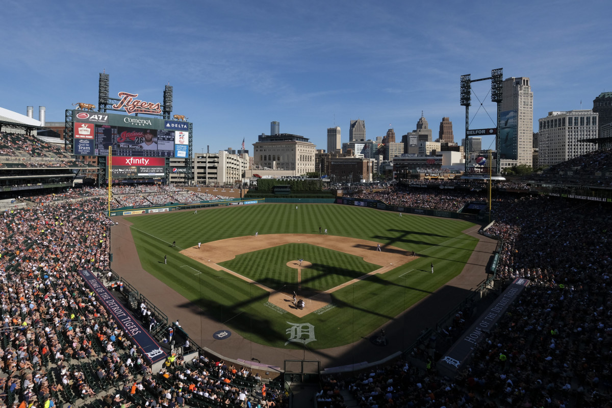 General view of Comerica Park