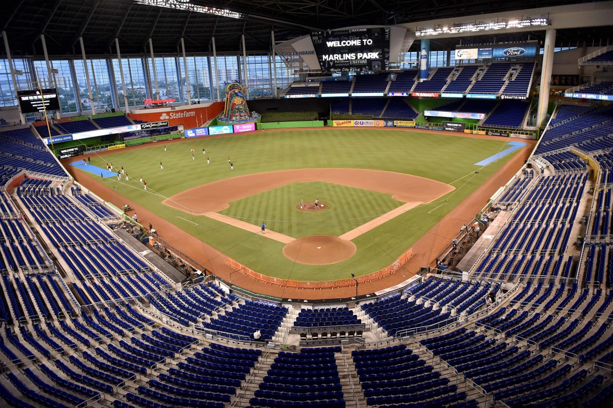 General view of Marlins Park