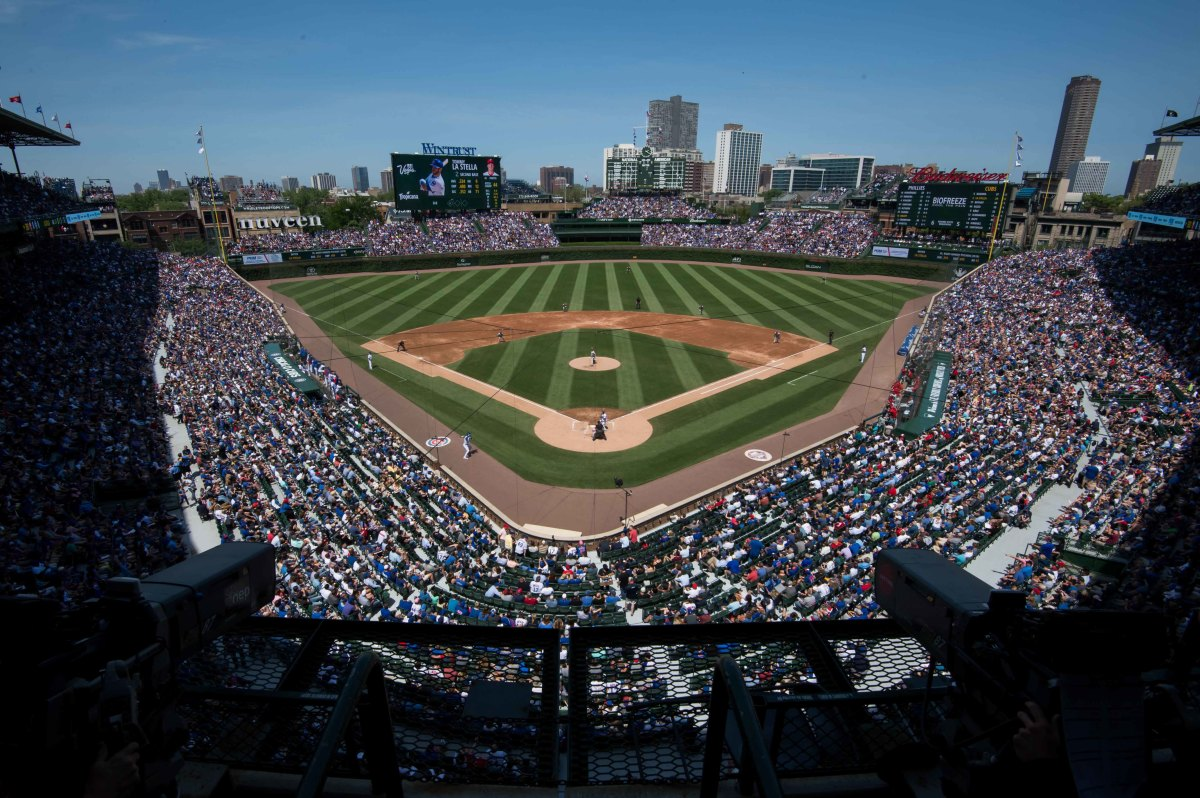 General view of Wrigley Field