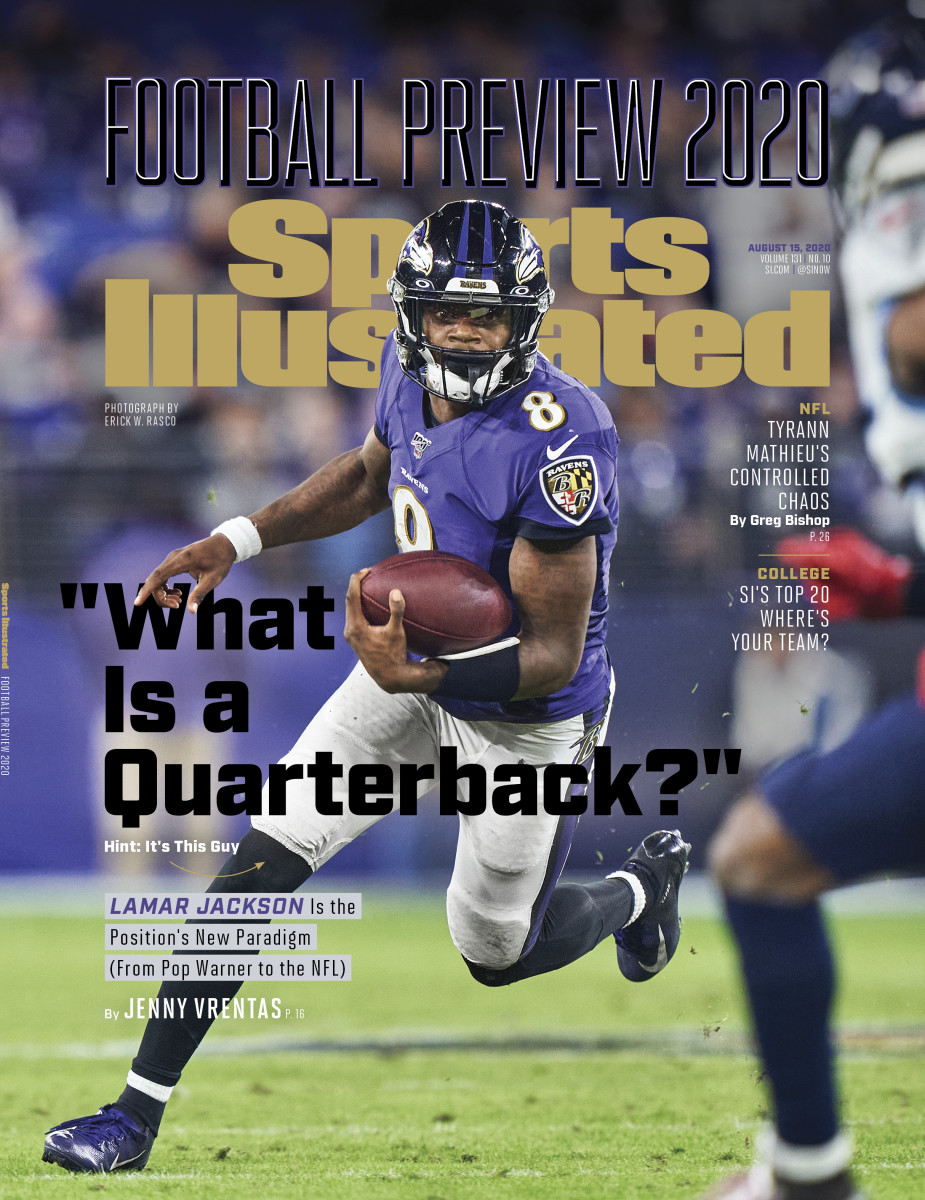Lamar Jackson on the cover of Sports Illustrated