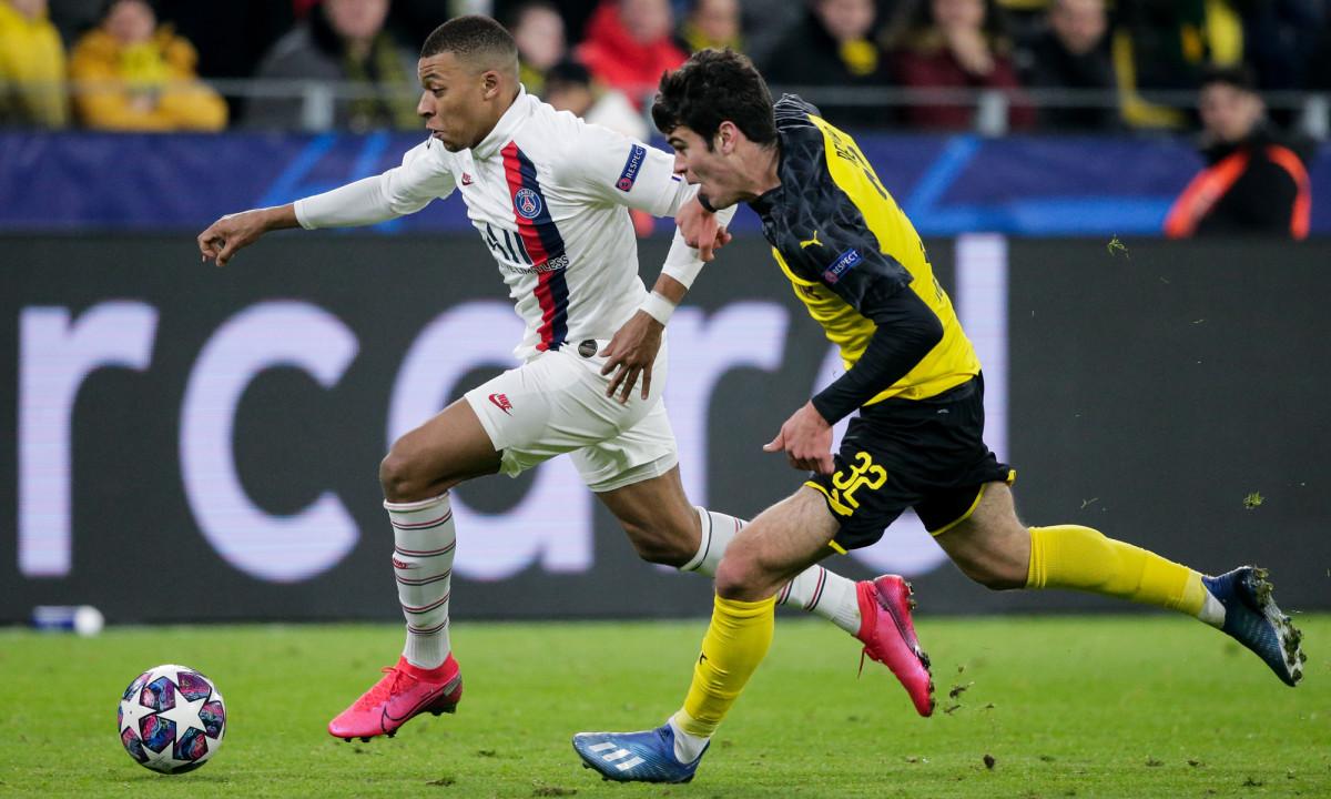 PSG's Kylian Mbappe and Dortmund's Gio Reyna
