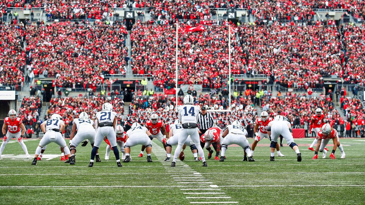 A view of Ohio Stadium during Penn State vs Ohio State