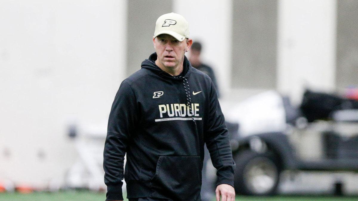 Purdue football coach Jeff Brohm