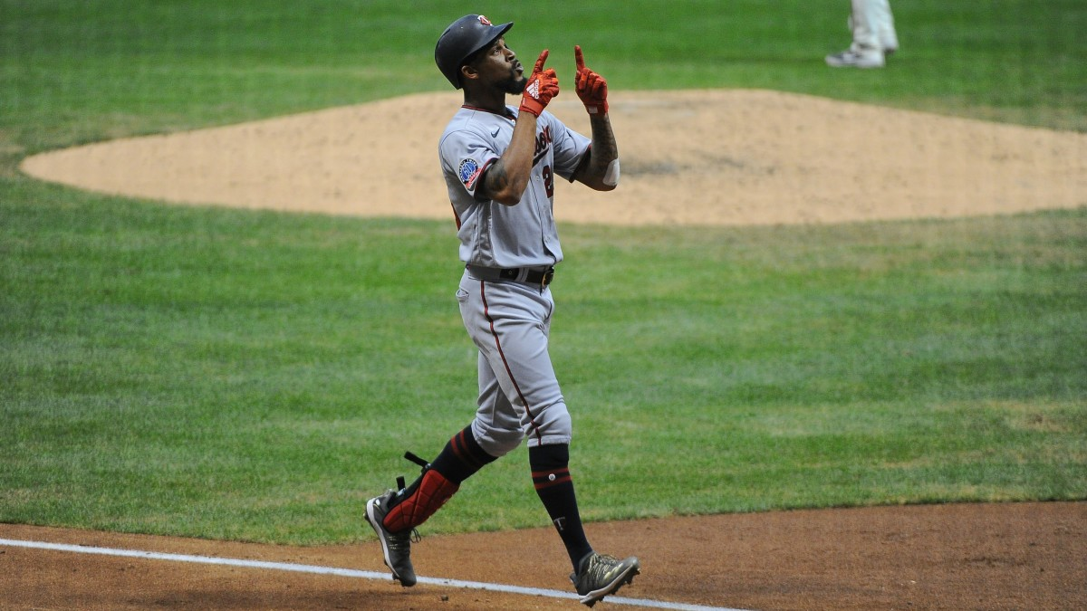 Byron Buxton homers against the Brewers.