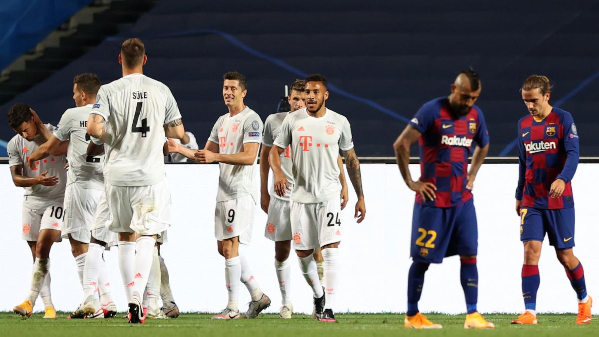 Bayern Munich thrashes Barcelona 8-2