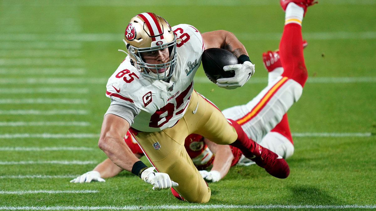 Kittle was the Niners'leader in catches and receiving yards in each of the past two seasons.