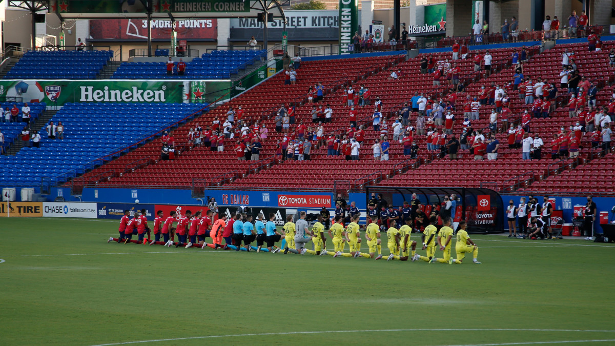 FC Dallas has opted to play the national anthem before players take the field against Nashville SC on Sunday.