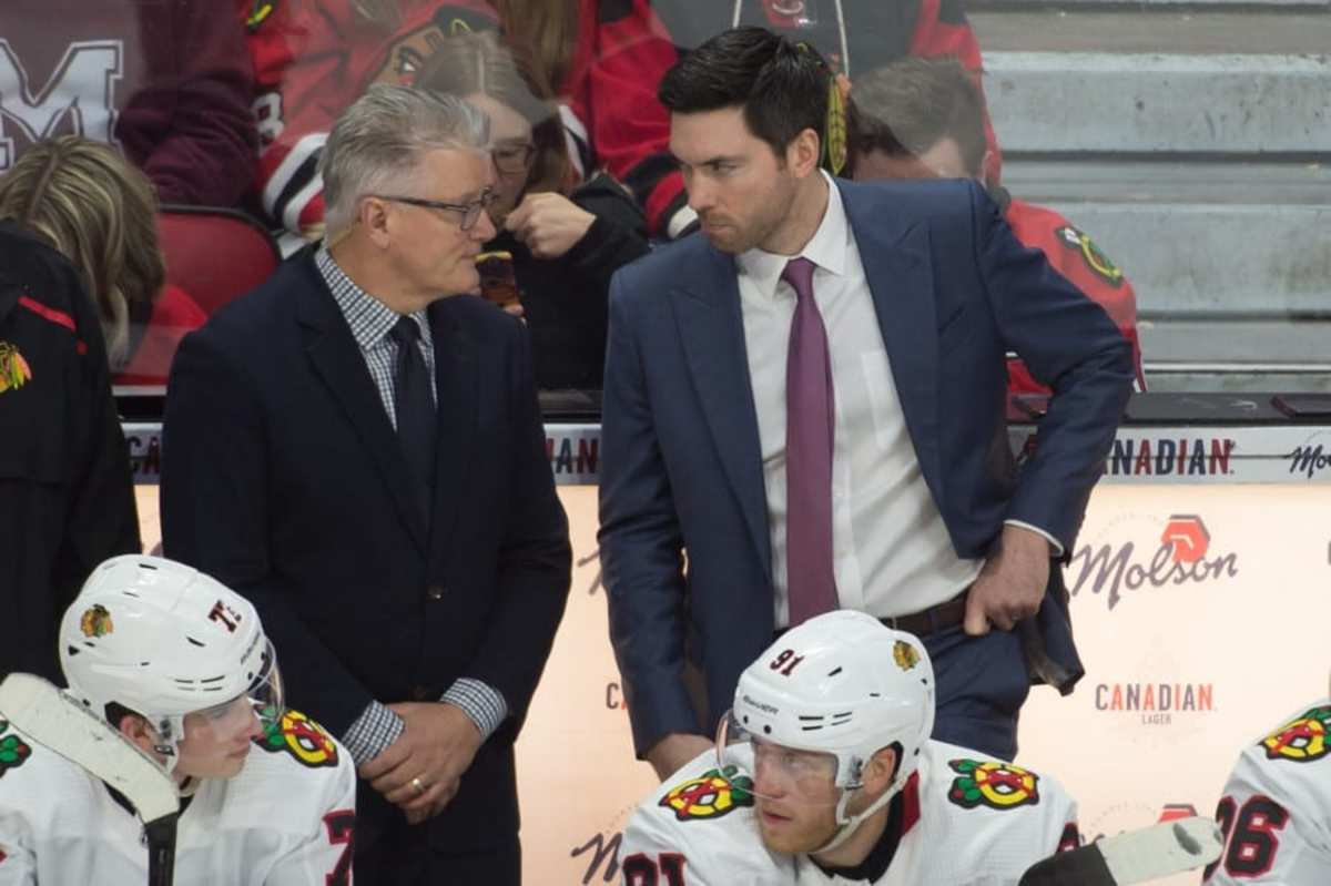Jeremy Colliton (right) and Marc Crawford