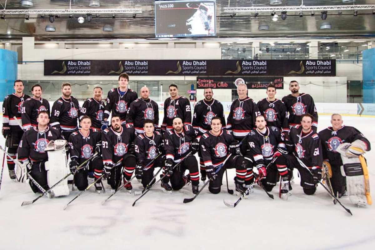 Egyptian team at the 2018 Arab Clubs Tournament | Courtesy of Egypt Ice Hockey