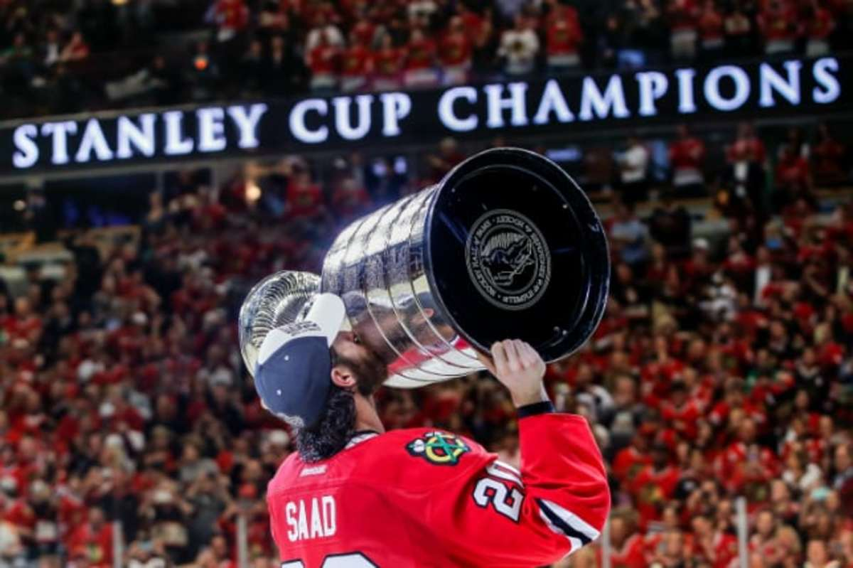 Brandon Saad Stanley Cup Champions Bill Smith