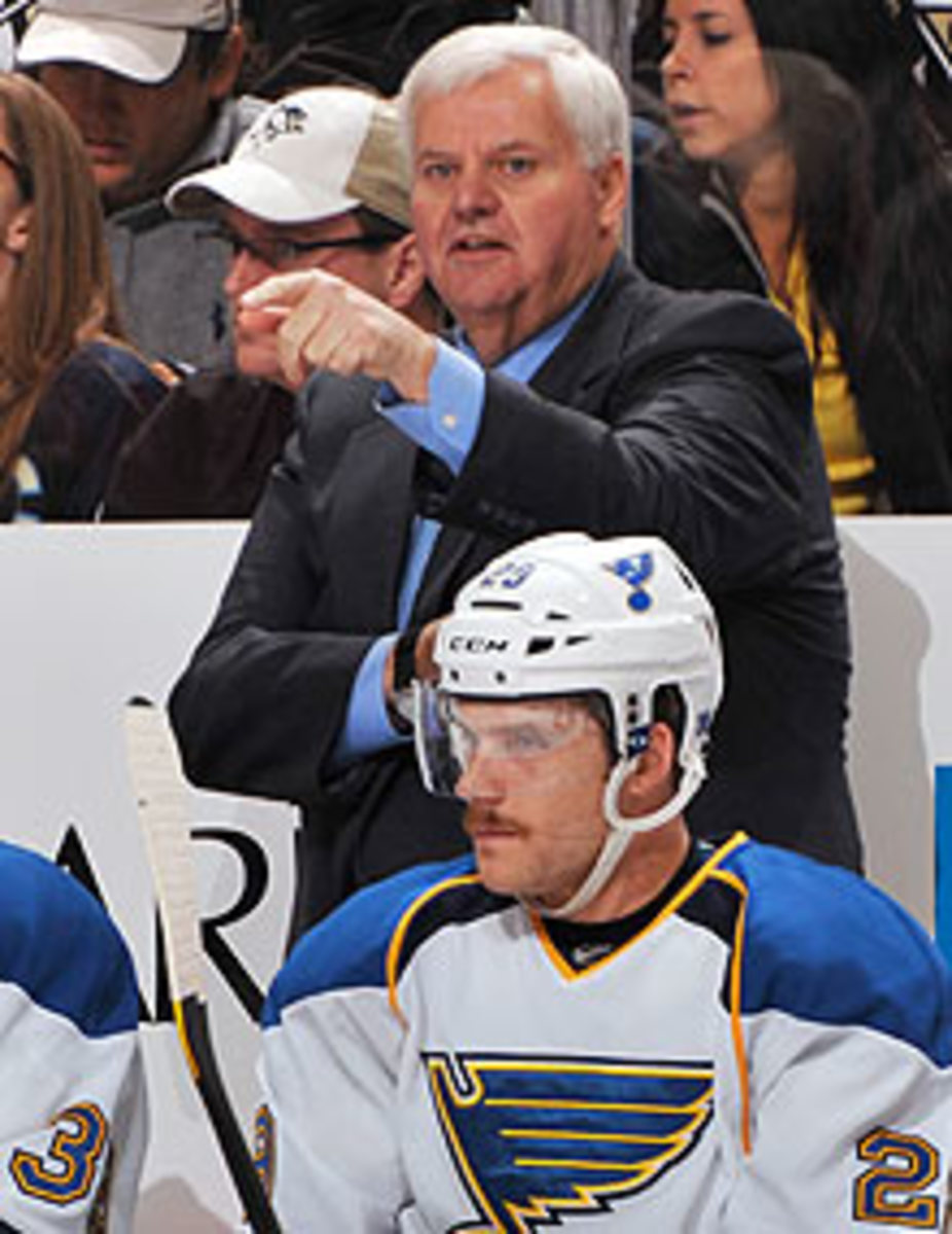 Ken Hitchcock said the speed of today's game surprised him when he first stepped behind the Blues' bench, but he caught up quickly.