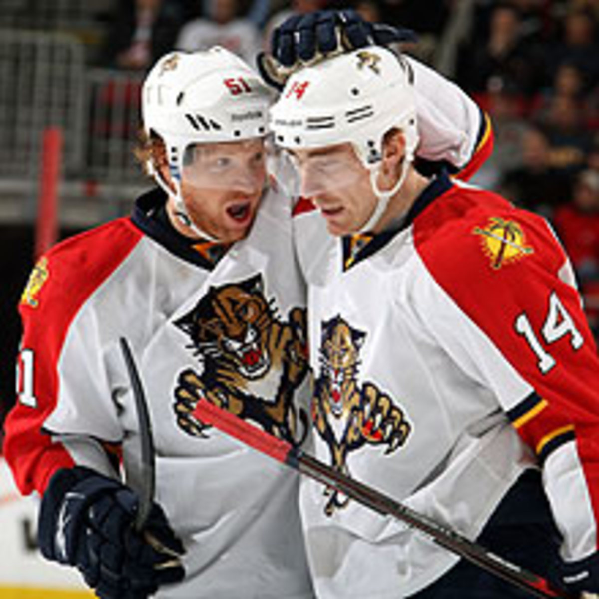 Brian Campbell and Tomas Fleischmann are two of the new Panthers enjoying success in the early going with Florida.