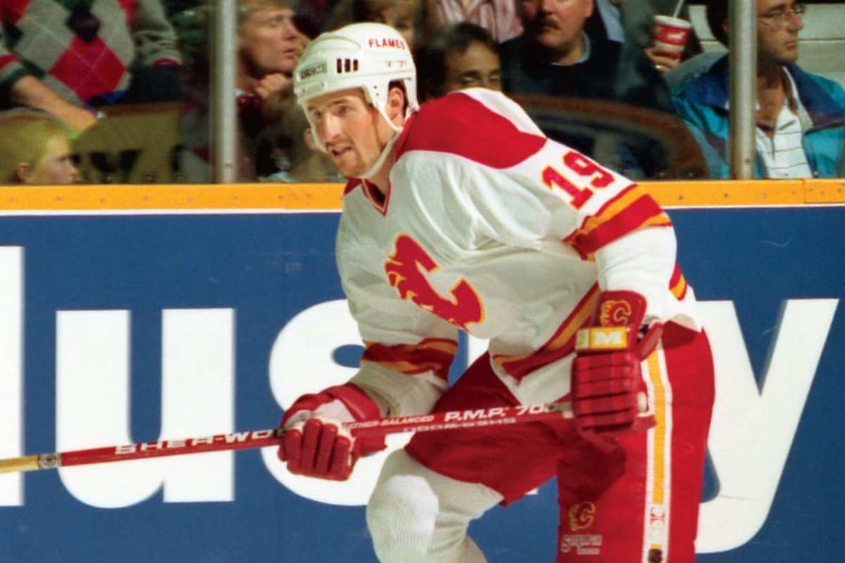 Harkins, an American, was cast as a Soviet player thanks to the skill he developed in the NHL with teams such as the Flames. | Photo via Calgary Flames