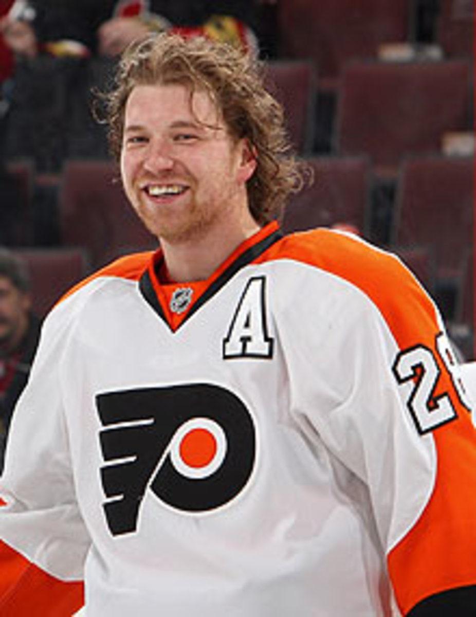 The Flyers' Claude Giroux has had plenty to smile about this season.