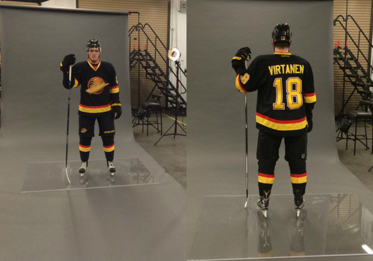sports shoes 23d6f a9dc8 Canucks unveil awesome old school jerseys ahead of Retro ...