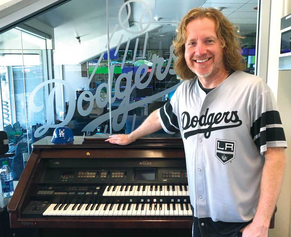 VITAL ORGANIST Ruehle, experienced on NHL arena organs, was an ideal choice to create the iconic EA video-game music.Courtesy of Dieter Ruehle