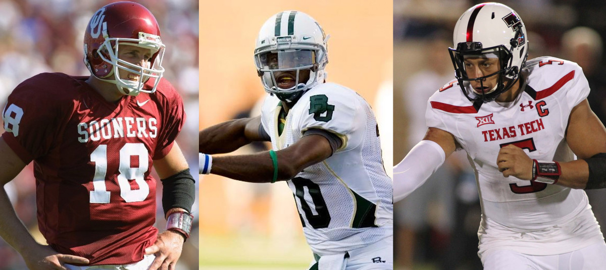 Jason White, Robert Griffin III and Patrick Mahomes II