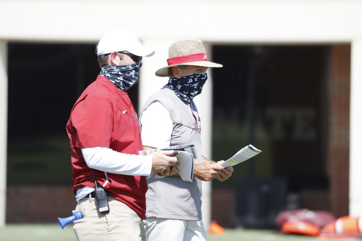 Nick Saban, Alabama practice, August 18, 2020