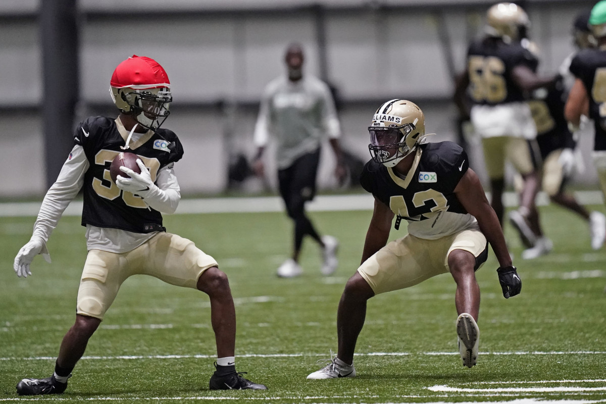 Credit: WVUE - Edwin Goode, Videographer/Photographer, August 23, 2020, New Orleans, LA; Saints Practice Facility
