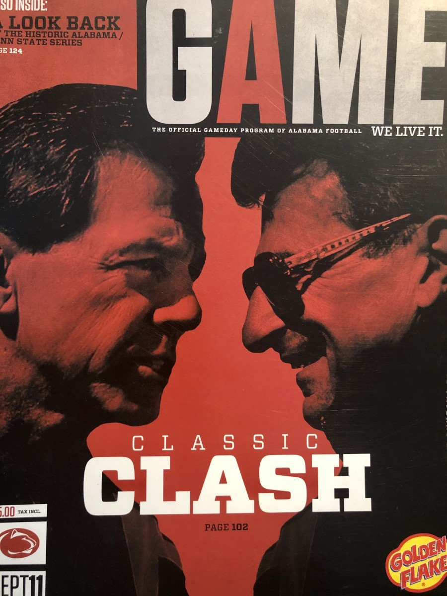 Nick Saban-Joe Paterno game cover, Penn State, Sept. 11, 2010