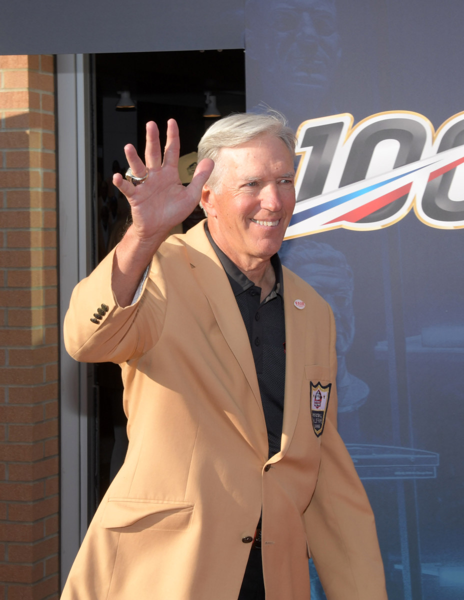 Roger Wehrli arrives during the 2019 Pro Football Hall of Fame Enshrinement at Tom Benson Hall of Fame Stadium in Canton, Ohio.