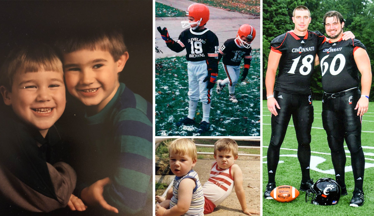 Jason and Travis Kelce as kids