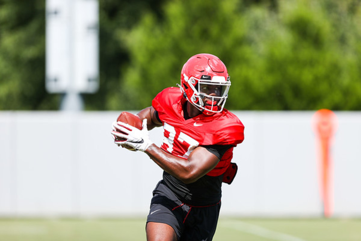 TE, Tre' Mckitty, Photo by Tony Walsh of UGA Athletics