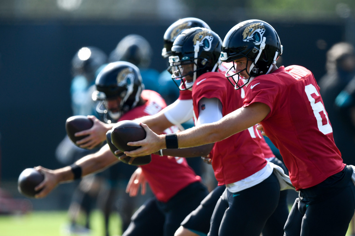 The Jags currently have four QB's on the training camp roster. Mandatory Credit: Douglas DeFelice-USA TODAY Sports