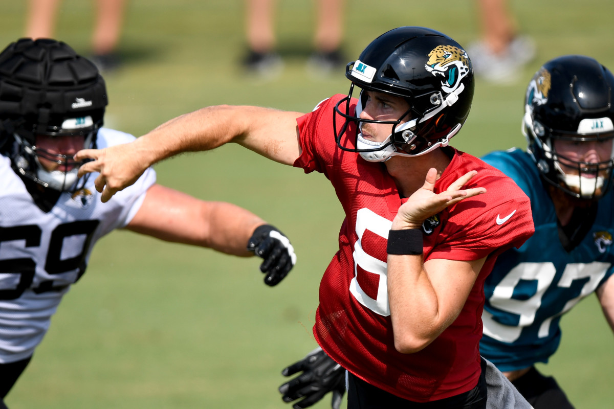 Jake Luton has been one of the nicest surprises in Jags training camp. Mandatory Credit: Douglas DeFelice-USA TODAY Sports