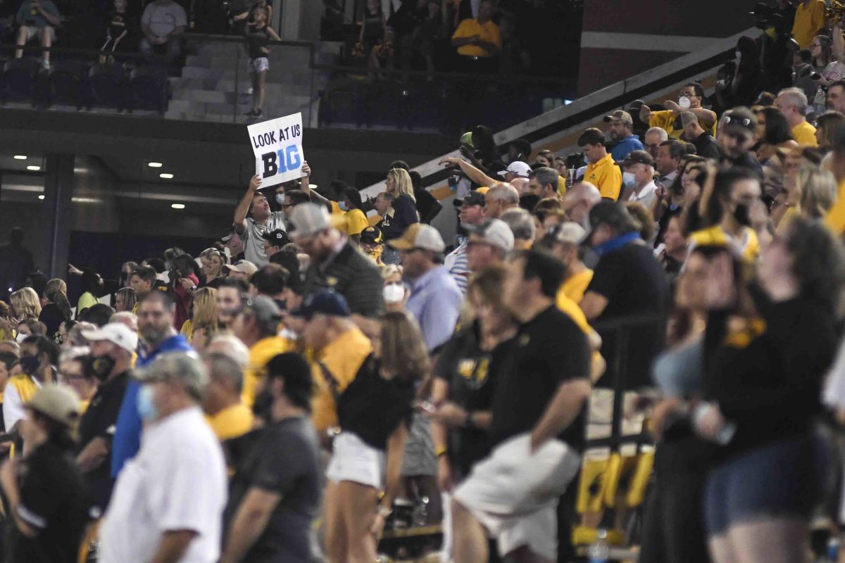 Southern Miss Golden Eagles Fans wait for the game to begin against the South Alabama Jaguars at M.M. Roberts stadium in Hattiesburg, Miss., Thursday, Sept. 3, 2020