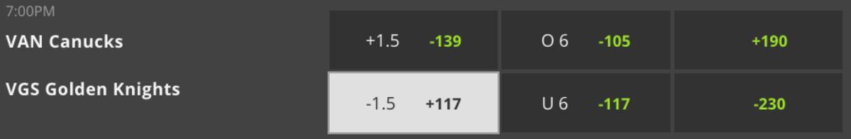 vegas betting odds nhl playoffs