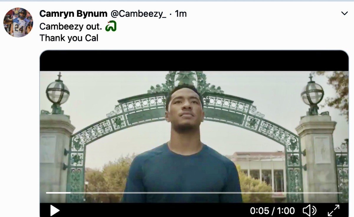 Camryn Bynum says goodbye to Cal after four years