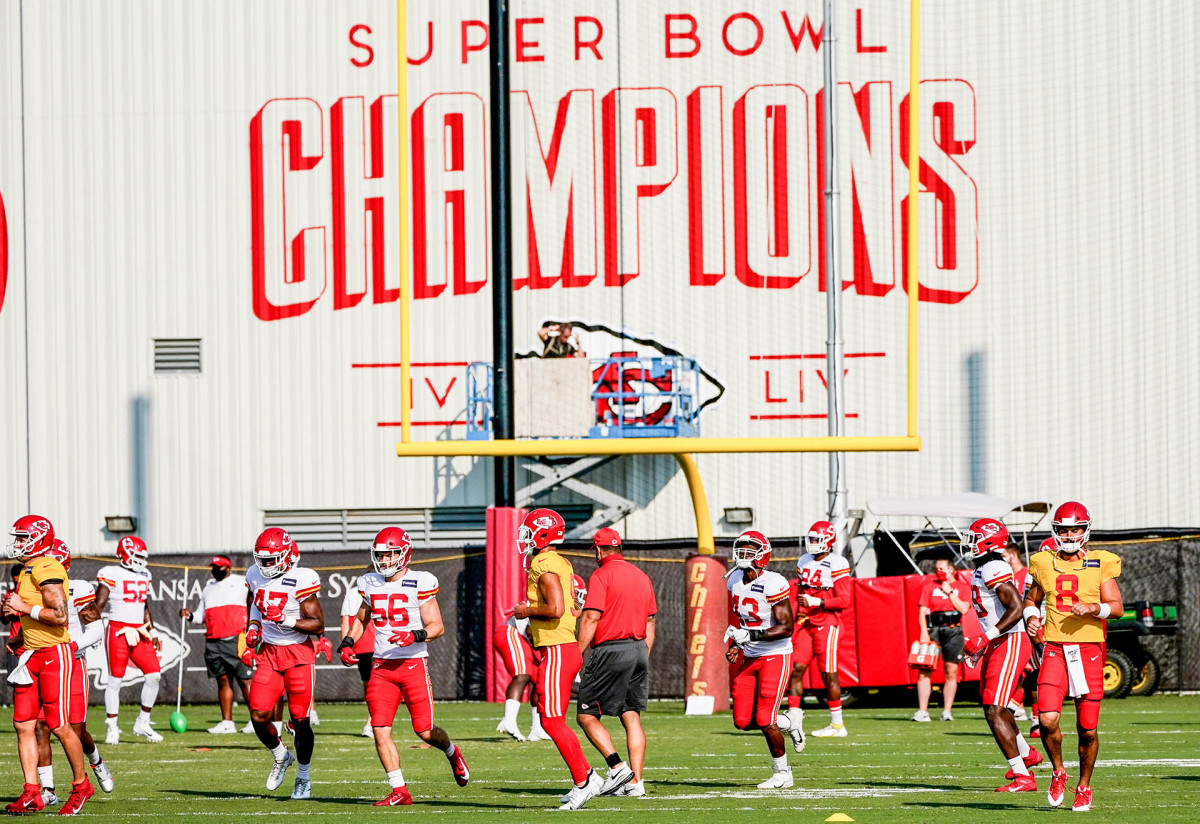 Chiefs training camp in 2020