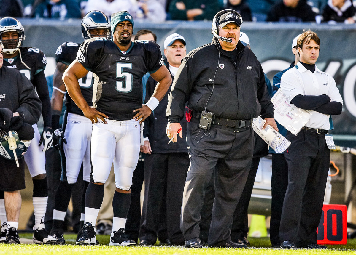 Donovan McNabb and Andy Reid, with the Eagles