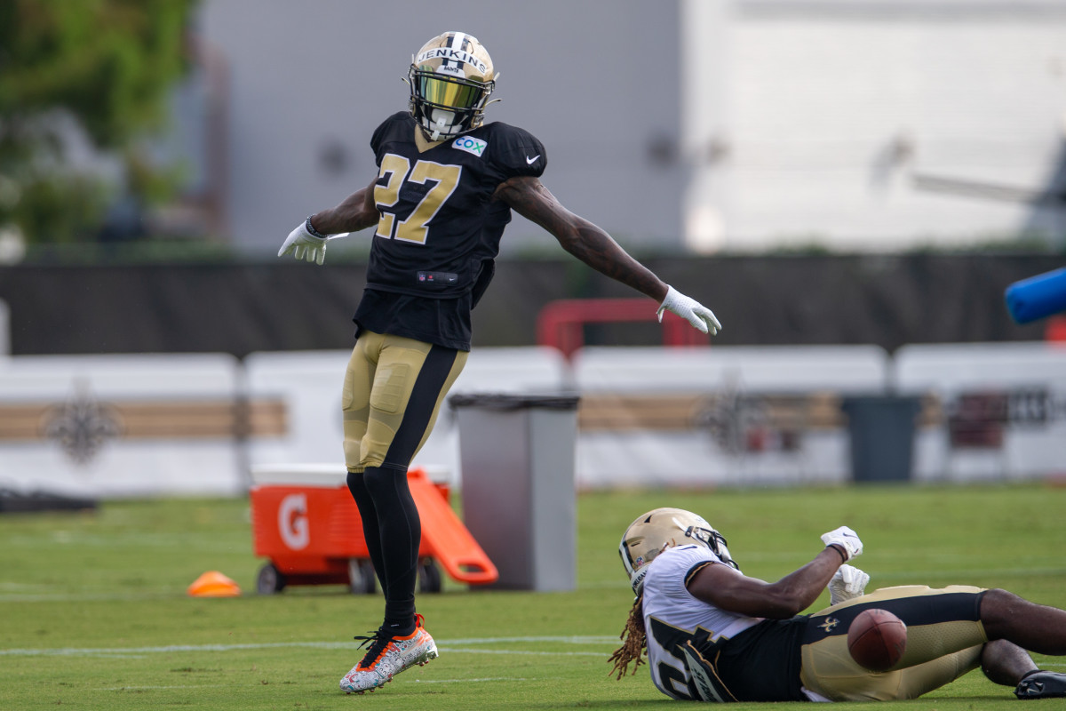 Malcolm Jenkins at Saints Training Camp in 2020