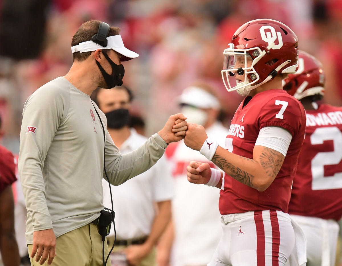 Lincoln Riley and Spencer Rattler