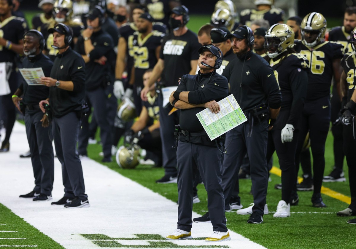 Sep 13, 2020; New Orleans, Louisiana, USA; New Orleans Saints head coach Sean Payton during the fourth quarter against the Tampa Bay Buccaneers at the Mercedes-Benz Superdome. Mandatory Credit: Derick E. Hingle-USA TODAY Sports