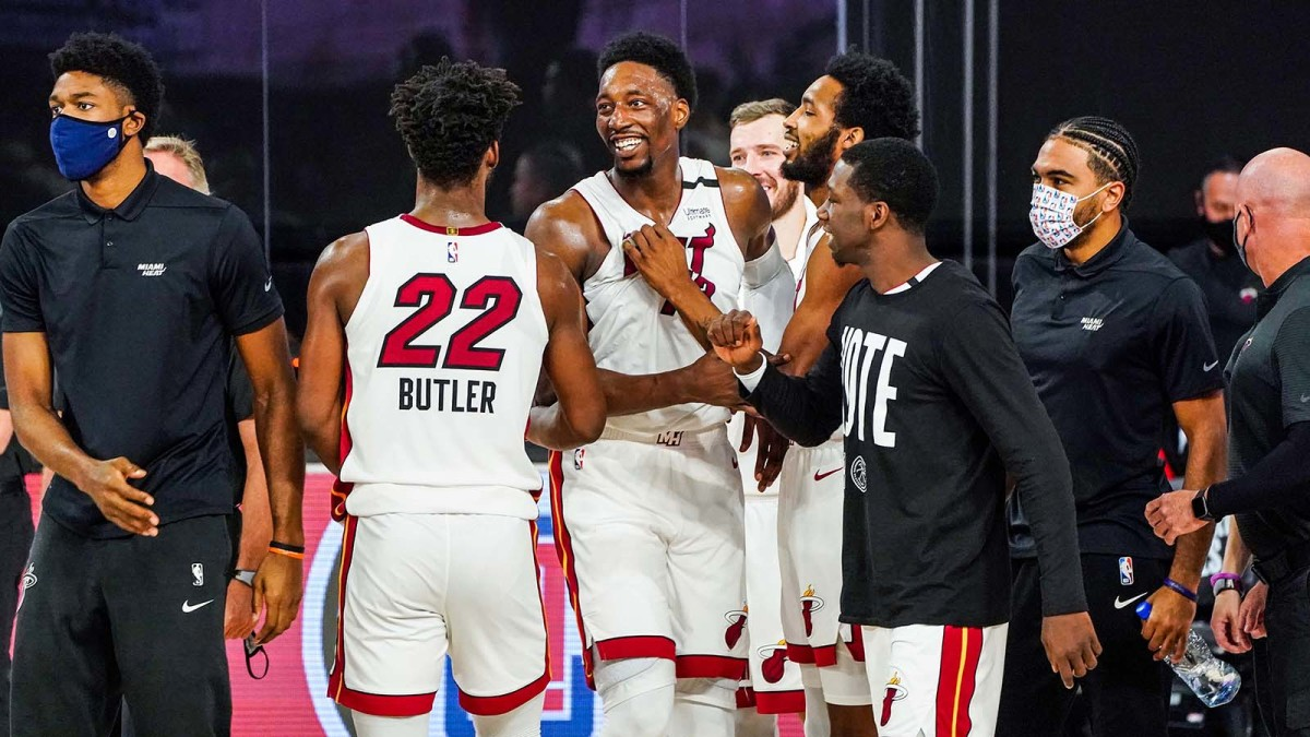 Jimmy Butler and his teammates