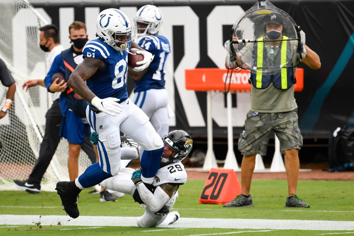 Third-year Indianapolis Colts tight end Mo Alie-Cox (81) will get the start Sunday in place of injured Jack Doyle.