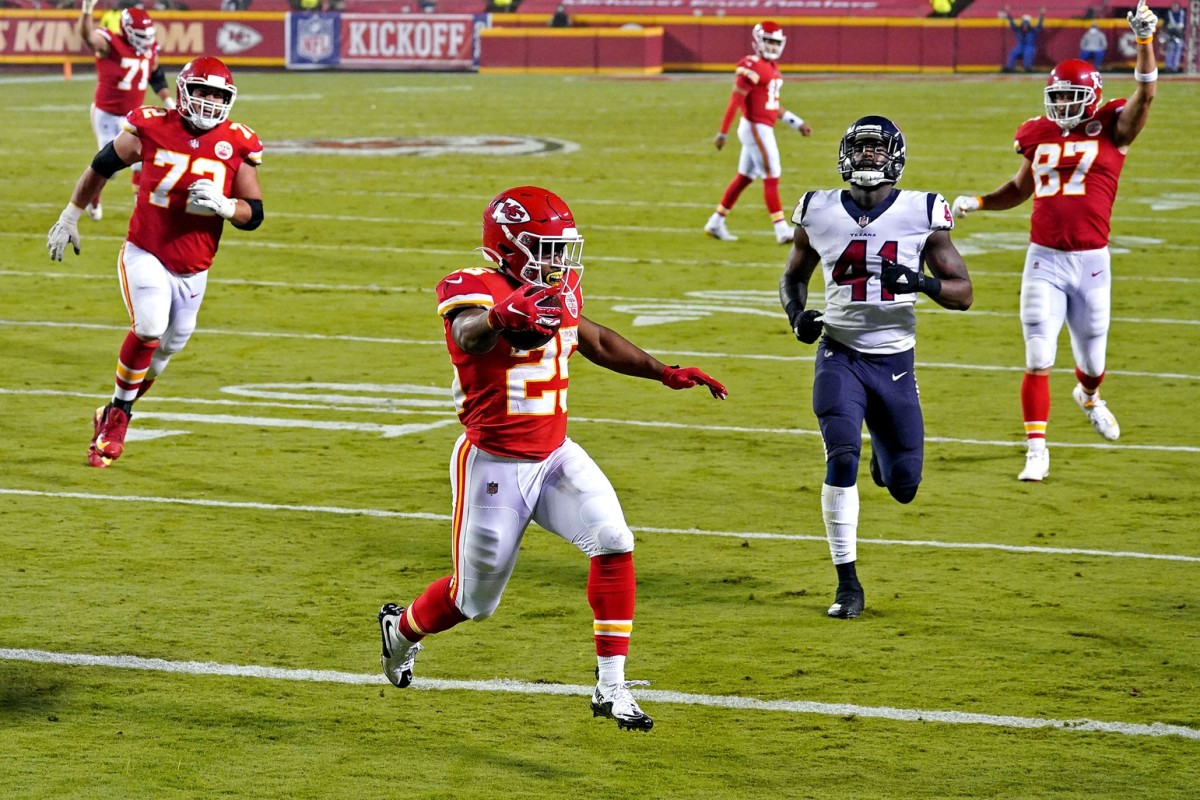 Chiefs Running Back, Clyde Edwards-Helaire