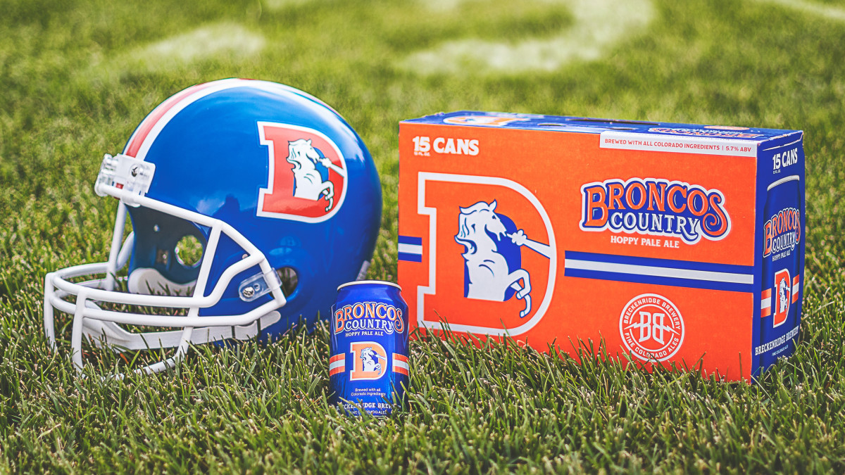 "Promotional image for Breckenridge Brewery's ""Broncos Country"" beer"