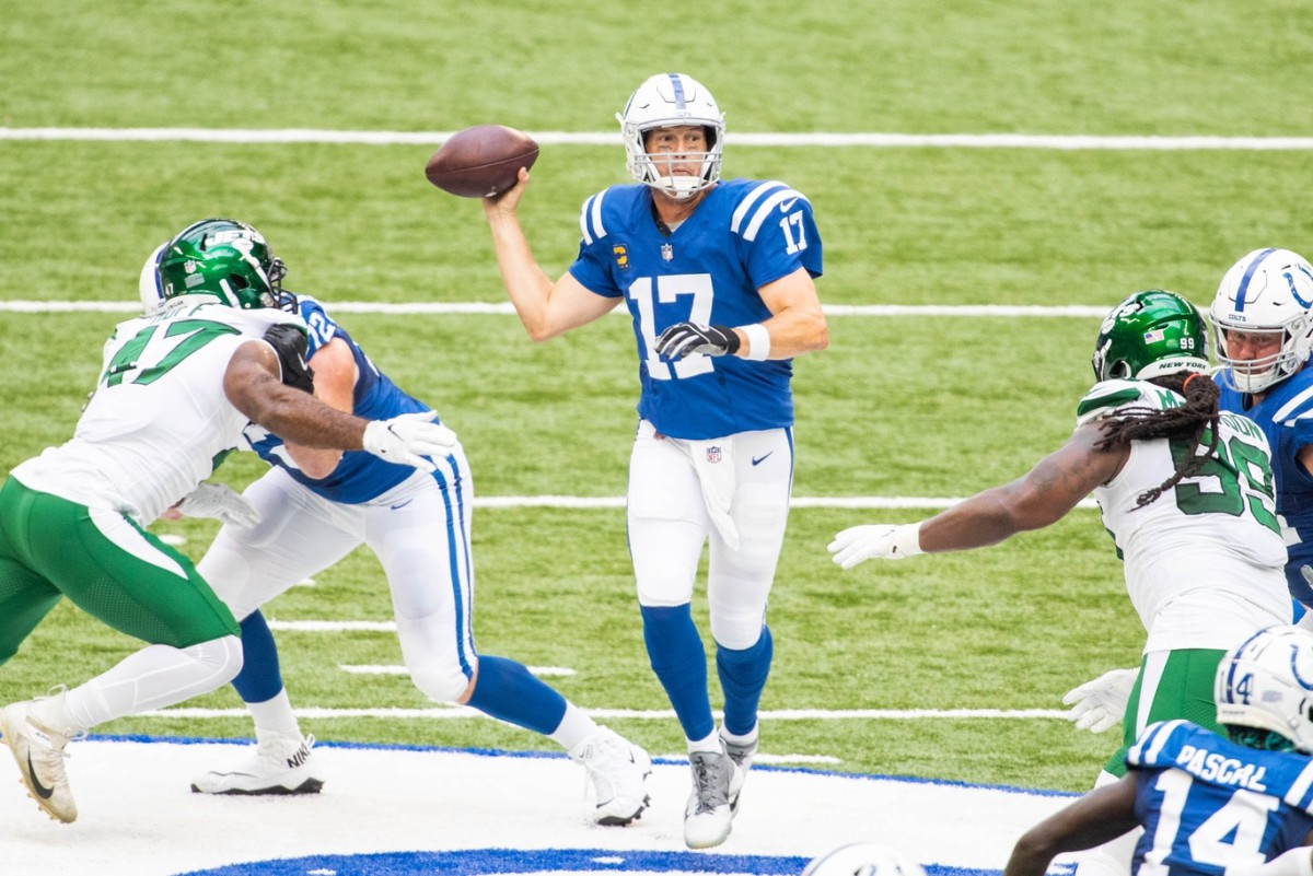 Indianapolis Colts quarterback Philip Rivers reached three career milestones in Sunday's 36-7 home win over the New York Jets.