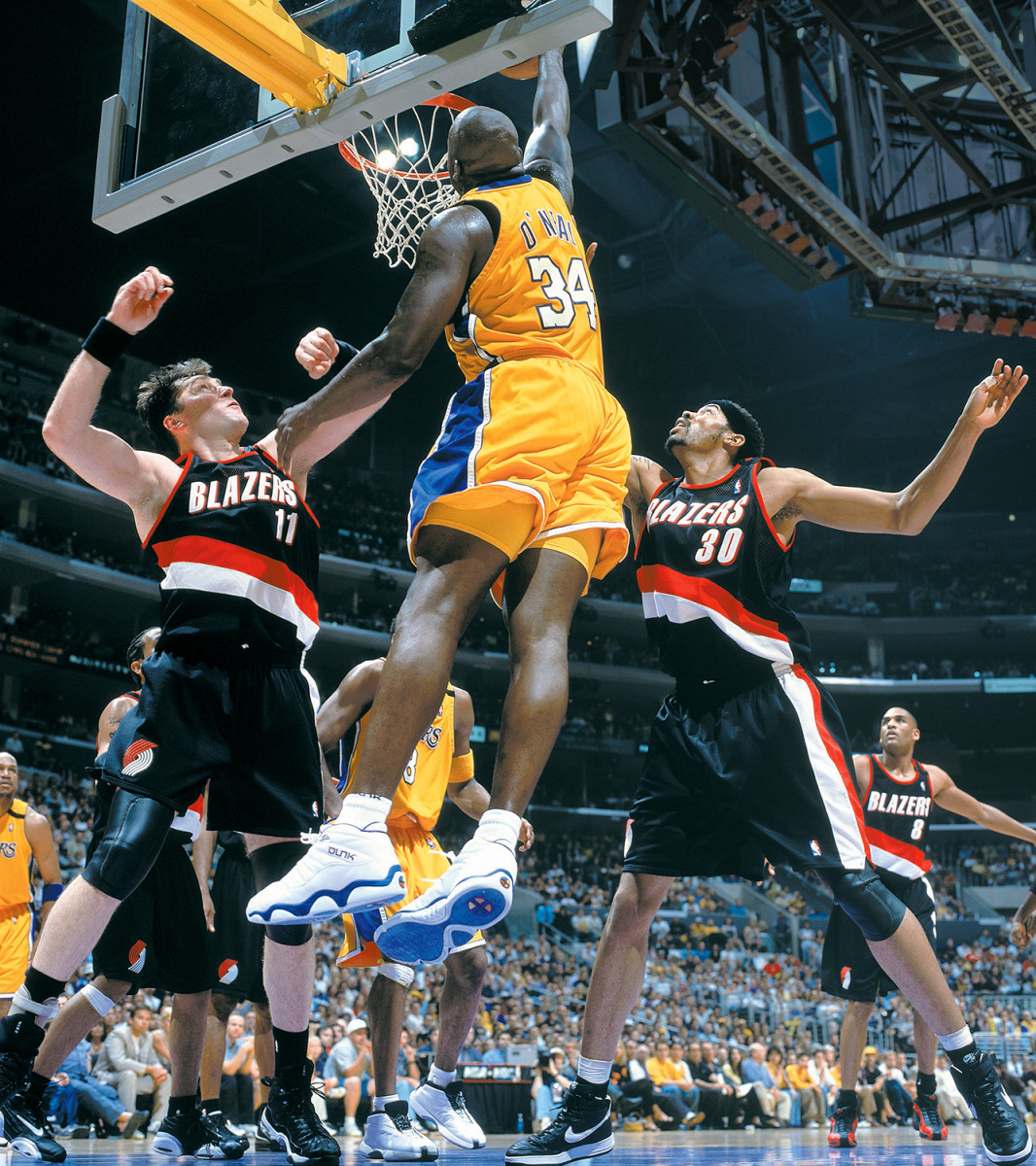 Shaq required an enemy. Sabonis (left) and Wallace (right) fit the bill.